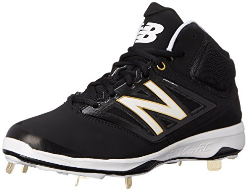New Balance Men's M4040V3 Cleat Baseball Shoe, Black/Black, 15 D US