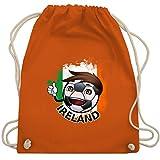 Fußball - Fußballjunge Irland - Unisize - Orange - WM110 - Turnbeutel & Gym Bag