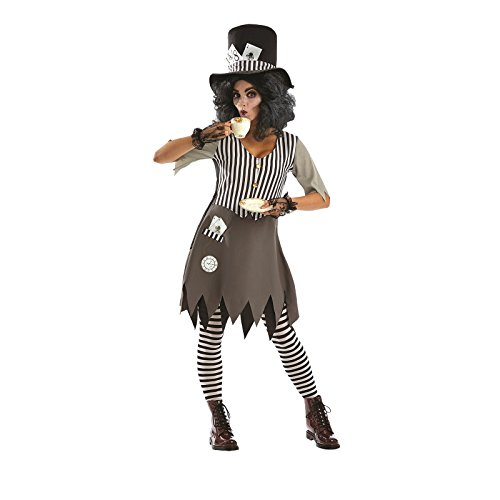 Fun Shack Damen Costume Kostüm, Haunted Hatter, ()