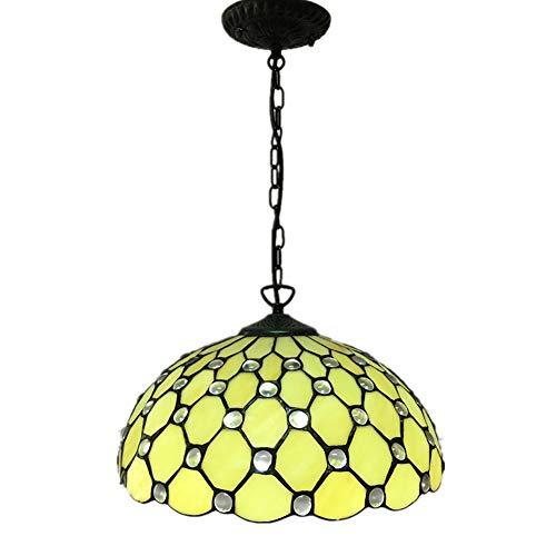 ECO REMAI Retro runder Hauben-Haushalts-Leuchter, Tiffany-Glaslampenschirm-Innendecken-hängendes Beleuchtungs-Werkzeug, 220V - Professionelle Wand-haube
