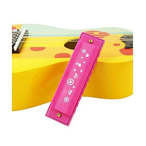 JHJBH Kinder Mundharmonika Pfeife Kinder Windinstrumente geeignet als wunderbares Geschenk 2-6 Jahre rose