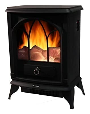 1800W Electric Flame Log Burning Effect Fireplace Stove Home Fire Fan Heater