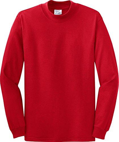 Port & Company Men'S Mock Turtleneck 4Xl Red - Red Mock Turtleneck Pullover