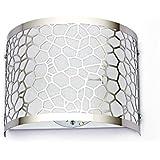 Coquimbo Creative Cube d'eau Vivid Forme en Acier Inoxydable Mur Sconce Lampee LED Lumières Mur Lampe (non inclus), Blanc
