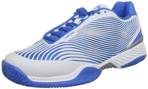 Head Speed Pro III Herren Tennis Schuh, Weiß - Weiß/Blau - Größe: 47