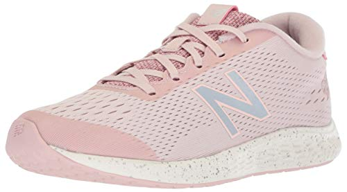 New Balance Girls' Arishi Next V1 Running Shoe, Conch Shell/Silver, 13 W US Little Kid (New Balance-13w)