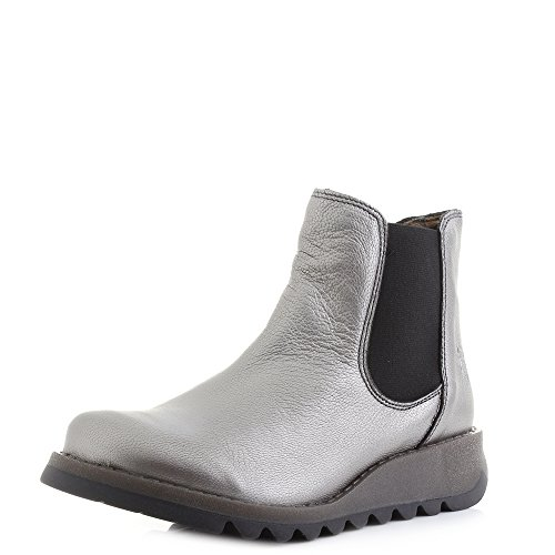 ca87465771ec4 Fly London Womens Salv Borgogna Lead Silver Leather Chelsea Ankle Boots  Size 8 - Buy Online in Oman. | Apparel Products in Oman - See Prices, ...