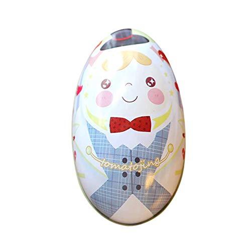 Delidraw 1 Stück Kinder Ostereier Candy Kiste Eierschale Stil Weißblech Geschenkbox Ostern Genuss Schachteln