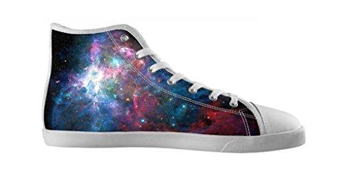 Dalliy Galaxie Katze Galaxy Cat Men's Canvas shoes Schuhe Lace-up High-top Footwear Sneakers Segeltuchschuhe D