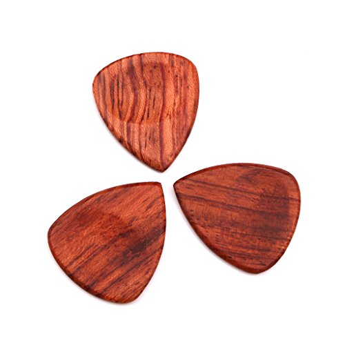Homyl Wooden Acoustic Guitar Pick Handmade Guitar Plectrum for Guitar Lovers