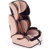 Baby Vivo Kinderautositz Autokindersitz Autositz Kindersitz TOM von 9-36 kg für Gruppe 1+2+3 mitwachsend ab 15 Monaten bis 12 Jahre in Braun/Beige