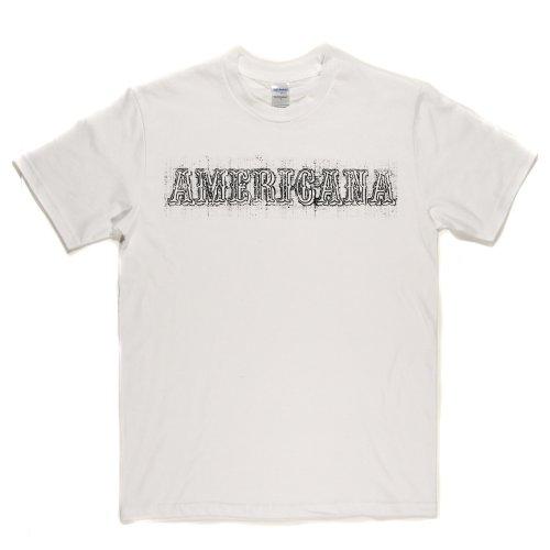 Americana America US USA T-shirt Weiß