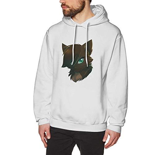 Harrisontdavison Herren Baumwolle Graphic Hoody Atmungsaktiv Warrior Cats White Langärmliges Sweatshirt M -