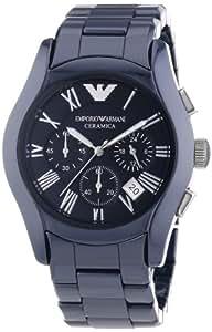 Emporio Armani - AR1469 - Montre Homme - Quartz Chronographe - Bracelet Céramique Noir