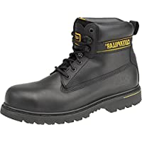 Caterpillar New Mens Holton SB Safety Boot Gents Lace-Up Footwear Leather Shoes