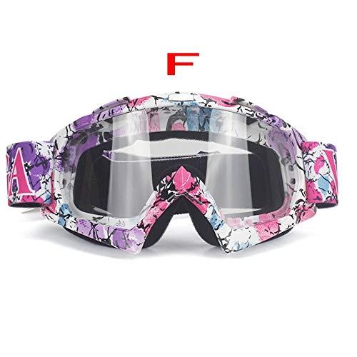 KOMNY Motorrad Staubdicht Brille Motocross Off-Road Dirt Bike Downhill Racing Brille UV Schutz Ski Snowboard Eyewear, F2