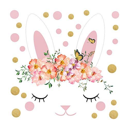 Shuda Osterhasen-Ei-Wandaufkleber, bunt, ungiftig wasserdicht, leicht zum Einkleben von Cartoon-Tapeten, geeignet für Wohnzimmer, Schlafzimmer, Küche, Kinderzimmer