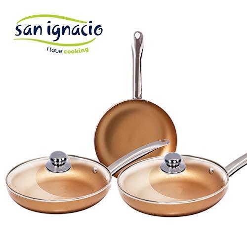 Las originales Optimum Copper. Juego 3 sartenes cobre