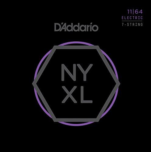 D'Addario NYXL1164 Nickel Wound 7-Saiter E-Gitarre Saitensatz, Medium, 11-64