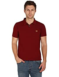 UNI COLORS POLO T-Shirts For Men's In Jhony Collar Pattern Half Sleeves Smart Fit For Ultimate Youth (LACQUER)