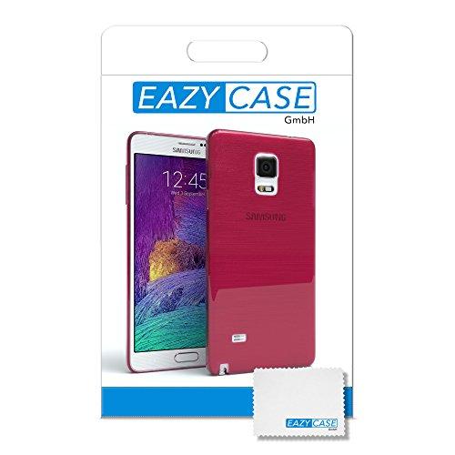 Samsung Galaxy Note 4 Hülle - EAZY CASE Ultra Slim Cover Handyhülle - dünne Schutzhülle aus Silikon in Transparent Brushed Pink