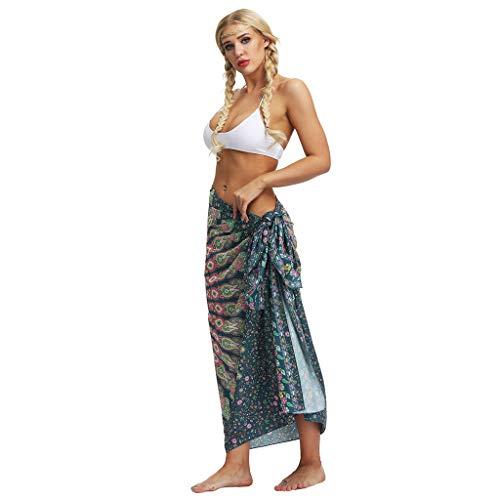 Strandtuch Strand Kleid, LeeMon Wickelrock Sarong Tuch Motiv Leicht, Pareo, Bikini Kleid, Pareos Strandkleider, Wickeltuch Strand, Hippi, Bikini Badeanzug, Sommerkleid