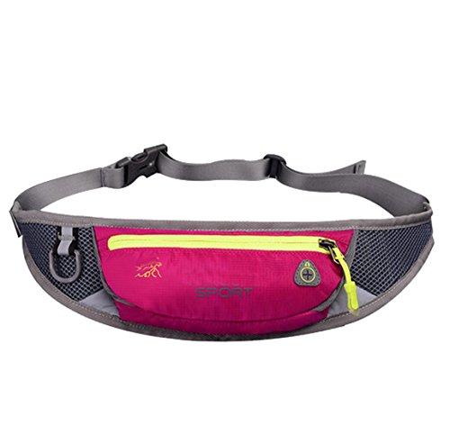 lethigho leicht Schweiß-Running Gürtel Fanny Pack Casual Outdoor Race Belt Sport Bum Bag Radfahren Wandern Taille Pack Läufer Gürtel Taille Tasche für Handy und andere Essentials Rose Red