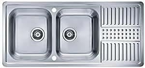 Alveus Doppelbeckenspüle Sink 1110 x 510 Stainless Inset Kitchen Sink Double Bowl Inset Kitchen Sink pixels 1085969 *50 mm