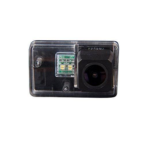 Super HD Pro Rückfahrkamera wasserdicht Nachtsicht Auto Rückansicht Kamera Einparkhilfe Rückfahrsystem, Kennzeichenleuchte (Schwarz) für Peugeot 206/207/306/307/308/406/407/5008 SM Sedan