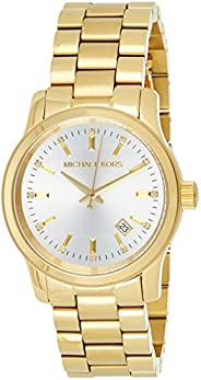 Michael Kors Womens Quartz Watch, Analog Display and Stainless Steel Strap MK5177