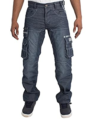 Mens Regular Fit Heavy Duty Work Cargo Combat Utility Pants Jeans