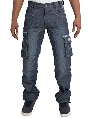 Mens Regular Fit Heavy Duty Work Cargo Combat Utility Pants Jeans