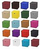 4er Set Schwarz Faltbox 28 x 28 x 28 cm Aufbewahrungsbox faltbar mit Deckel