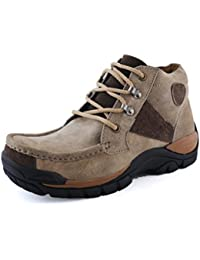 Albertiano Men's Woodlsand OUTDOOR Leather Boots