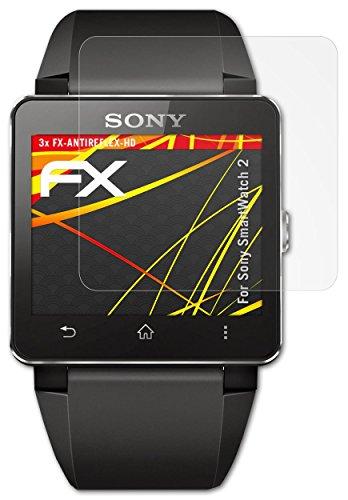Sony SmartWatch 2 Displayschutzfolie – 3 x atFoliX FX-Antireflex-HD hochauflösende entspiegelnde Schutzfolie Folie