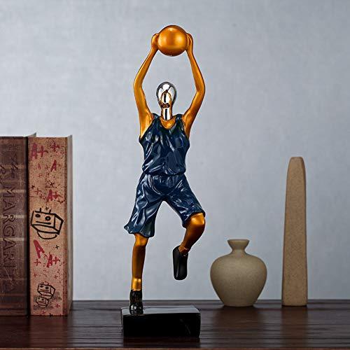 yowinlo statue soprammobile statuine decorazione di pallacanestro golf character sport decorazione del desktop decorazione moderna semplice della stanza del ragazzo domestico creativo, 8 * 12 * 34cm