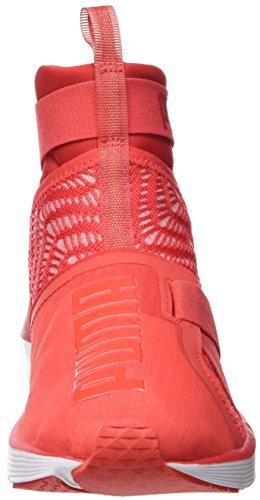 Puma Damen Feroce Cinturino Swirl Hallenschuhe Rot (papavero Rosso-bianco)