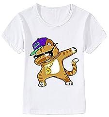 Idea Regalo - EVERYLON ® T-Shirt Bambino Bambina Me Contro tè Gatto 6 Anni 120-130 cm