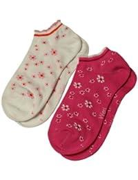 Weri Spezials 2 Paires de Chaussettes de Sport pour Enfants Blanc-Rose / Blanc-Ciklomene