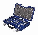 Michelin 602010130 Steckschlüsselsatz, Nusskasten, Ratschenkasten Set