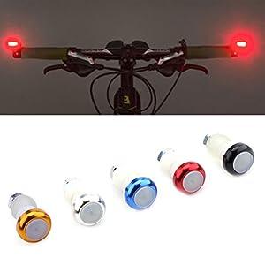 VGEBY 2Pcs Tapones Manillar con Luz Intermitentes para Bicicleta Luz Señal Indicador de Dirección (Color : Azul)
