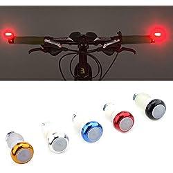2Pcs Intermitentes para Bicicleta Luz Señal Indicador de Dirección ( Color : Azul )