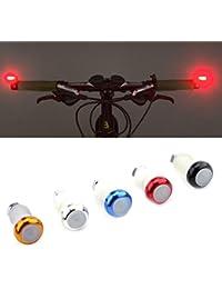 VGEBY 2Pcs Indicatore di Direzione Grips in Lega di Alluminio per Bicicletta Manopola Lampada di Segnale di Avvertimento di Sicurezza (Colore : Rosso)