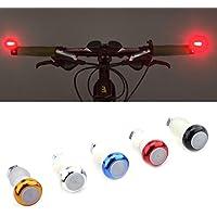 Paire Lampes Indicateurs Vélo Feux Clignotants de Direction Poignée Guidon Embouts en Alliage Alumiunm