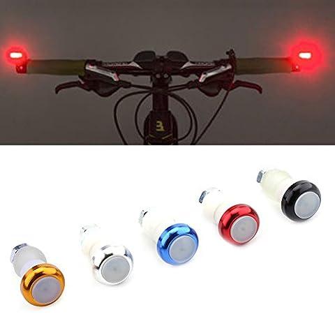 Ein Paar Fahrrad Lenkergriffe LED Lampe Beleuchtung an Gabel Lenker für Radfahren in der Nacht ( Farbe : Blau