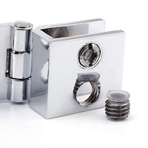 41O3pvAbW7L - SurePromise - Juego de bisagras para puerta de cristal (4 unidades, 5 mm-8 mm, rectángulo, ajustables)