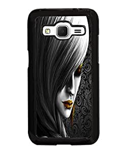 Fuson Style Girl Pattern Back Case Cover for SAMSUNG GALAXY CORE PRIME - D3838