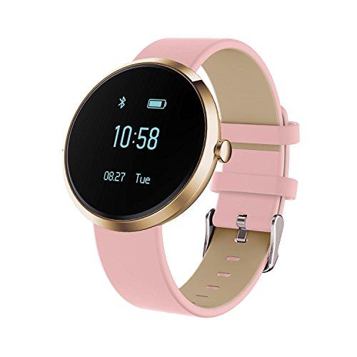 KOBWA Fitness Armband, Bluetooth 4.0 Fitness Tracker mit Pulsmesser, Blutdruckmessgerät, Schrittzähler, Schlafanalyse, Push-Message, IP67 Wasserdicht Ultra Dünne Aktivitätstracker für Android und IOS