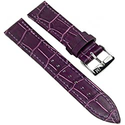Morellato Bolle Replacement Band Watch Band Leather Kalf Strap violet 12mm 20149S