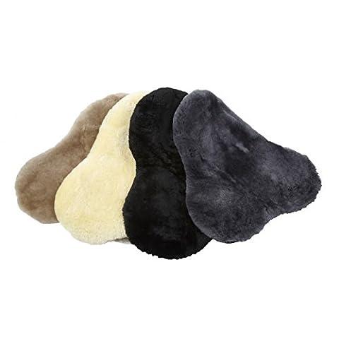 LeMieux Lambskin Seat Saver - Dark Brown Wool, One Size